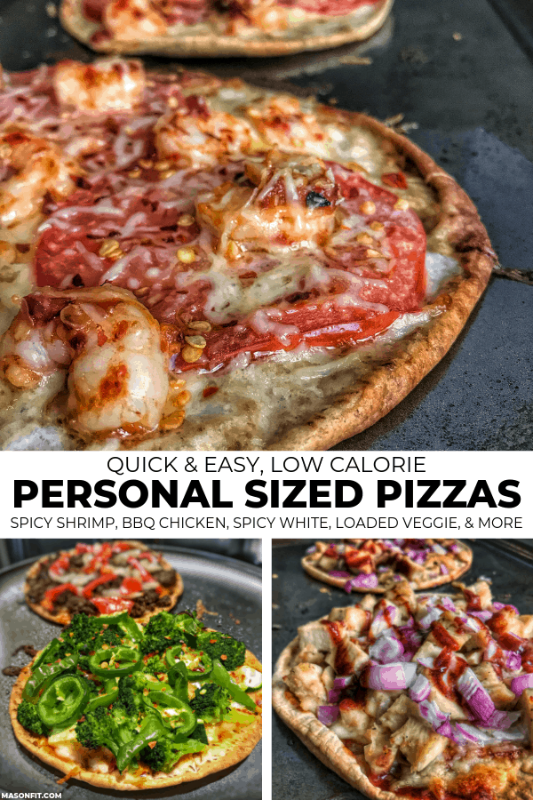 3 personal pizzas
