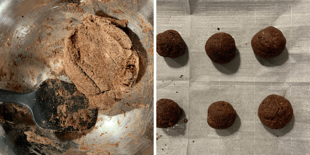 the dough for baked protein donut holes