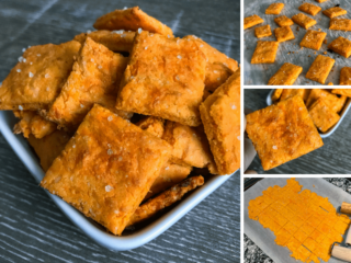 A quick and easy low carb Cheez-It copycat that keeps both calories and carbs low without sacrificing the cheesy flavor and cracker texture. If you're looking for an extra cheesy low carb snack, look no further.