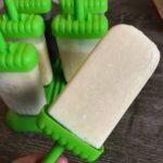 piña colada protein popsicles