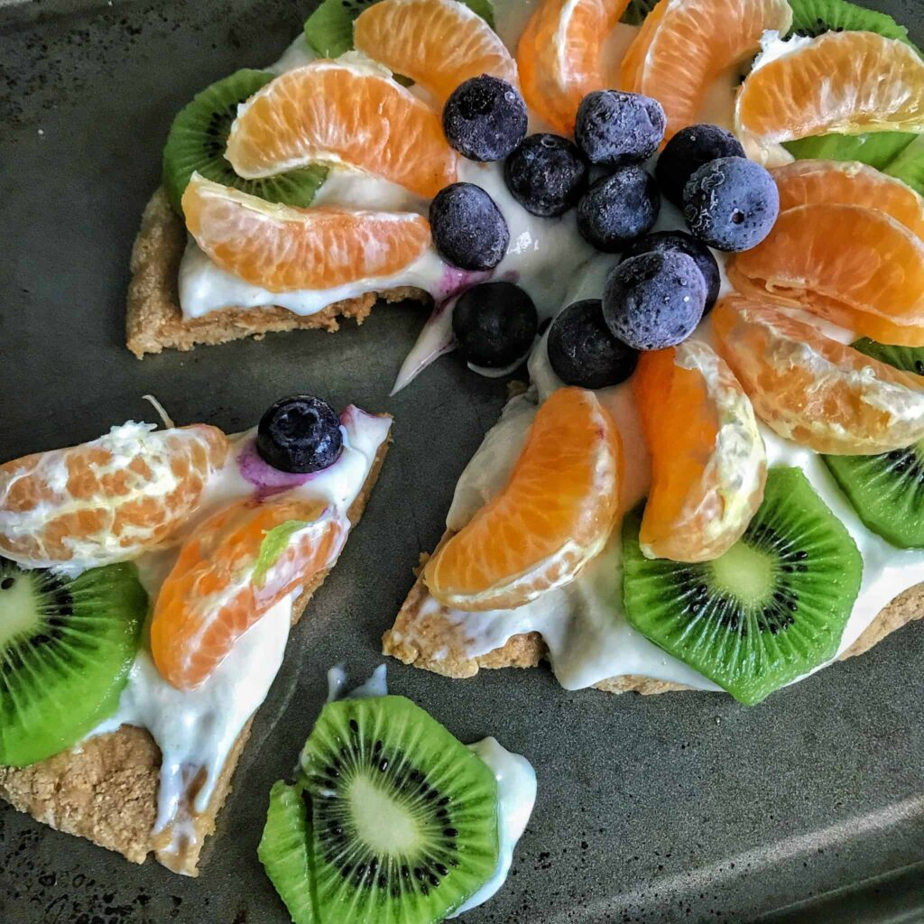 healthy high protein fruit pizza