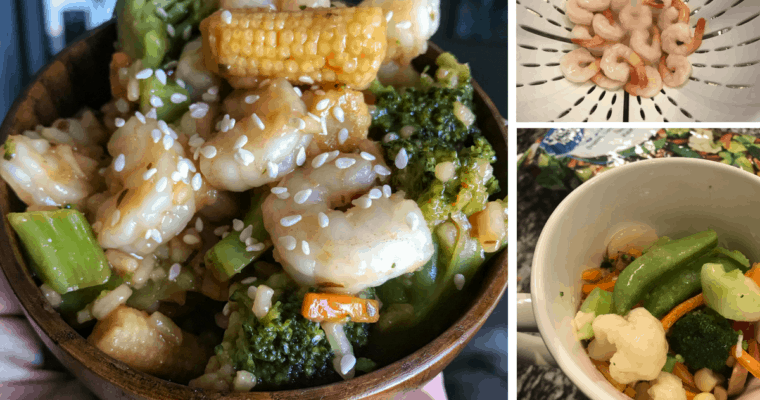Szechuan Shrimp Stir-Fry in a Mug: Healthy Microwavable Meals