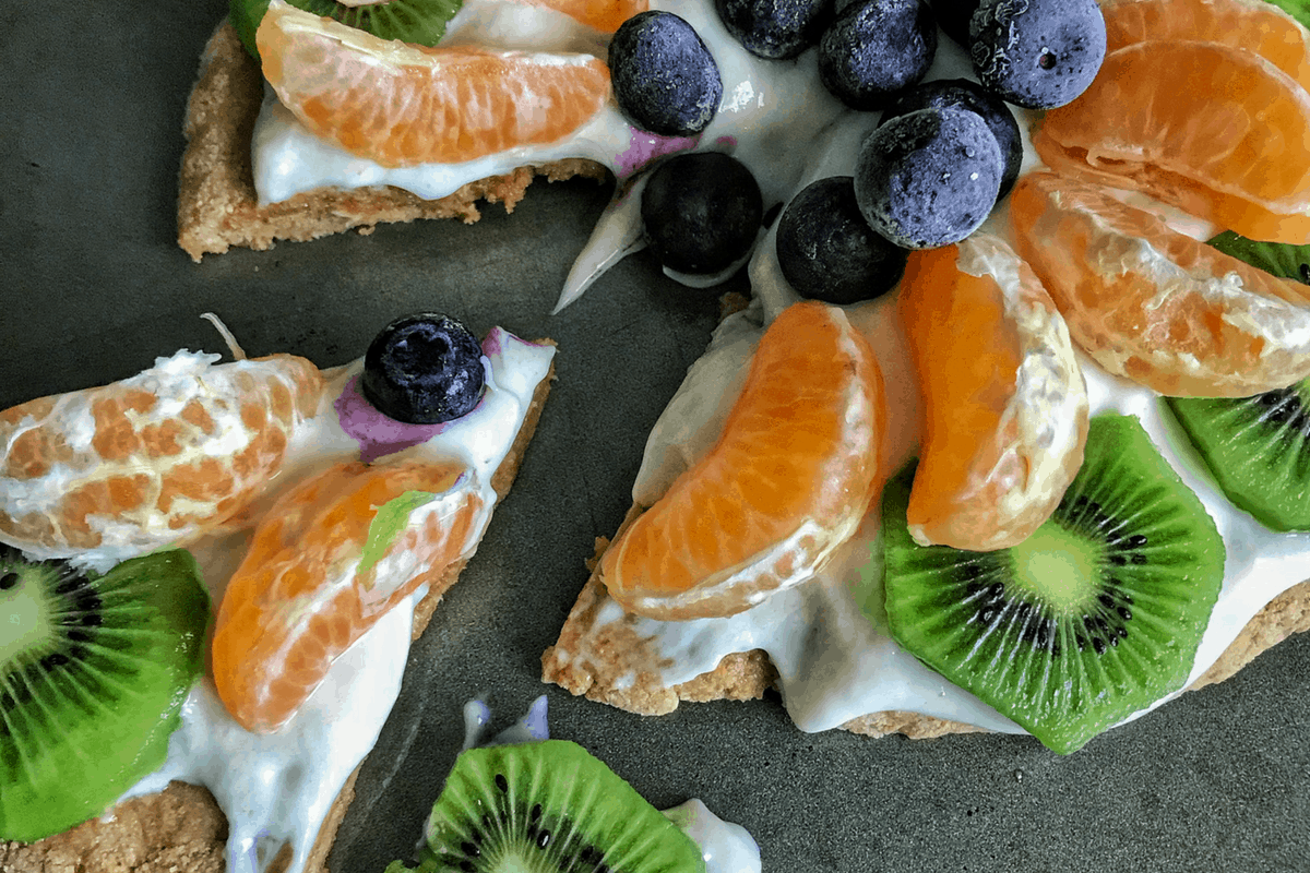 High Protein Fruit Pizza