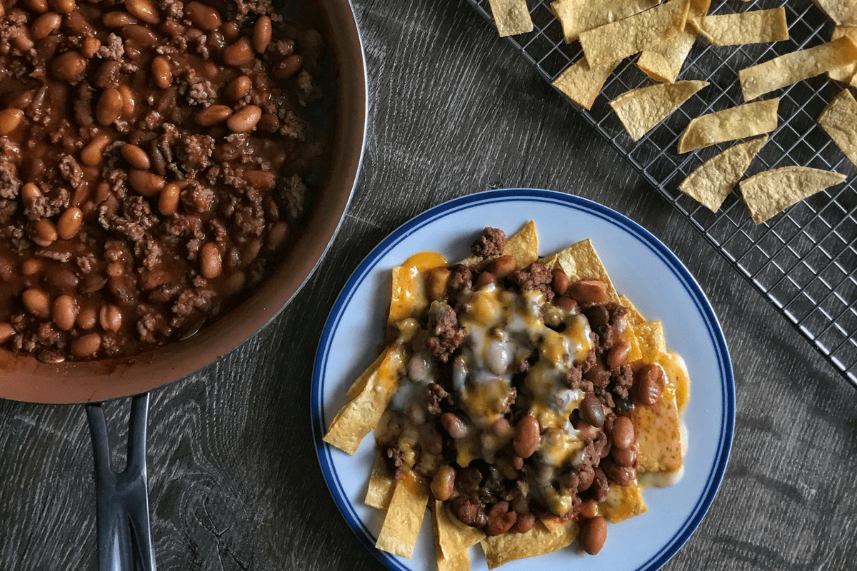Healthy Frito Pie A Simple 3 Ingredient Chili With Crispy
