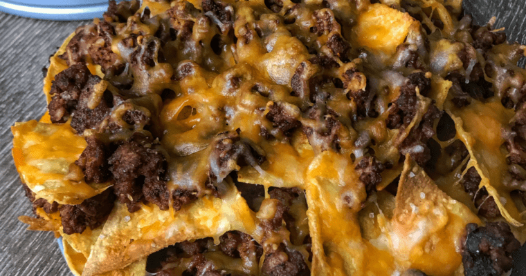 The Best Healthy Nachos on the Internet: Homemade Chorizo and Beef Layer Nachos