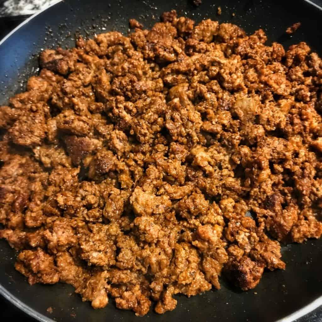 homemade chorizo and beef