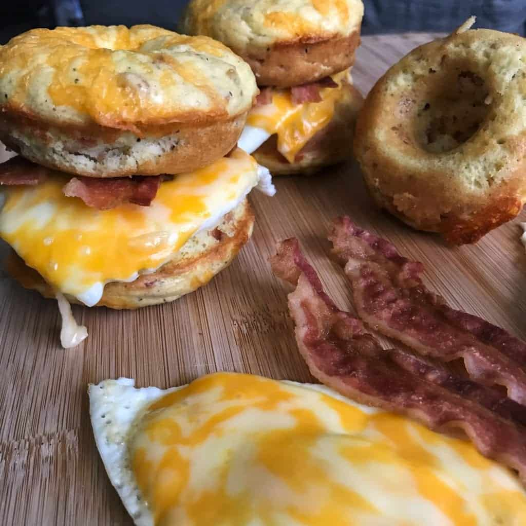 low carb biscuit donuts sandwiches