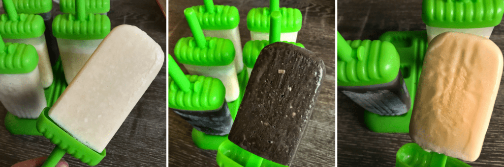 Protein Popsicles: Almond Joy, Piña Colada, and Orange Creamsicle