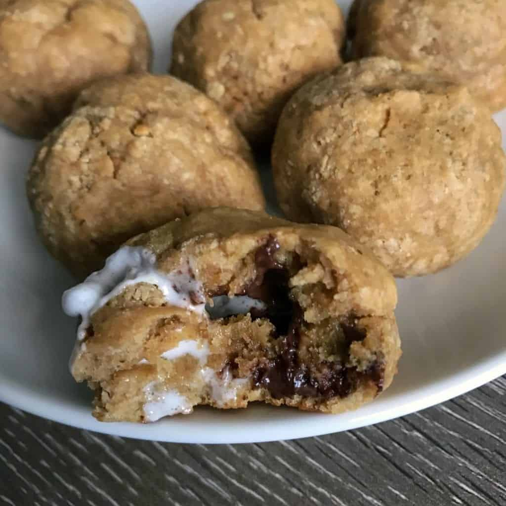 a look inside the protein cookie balls