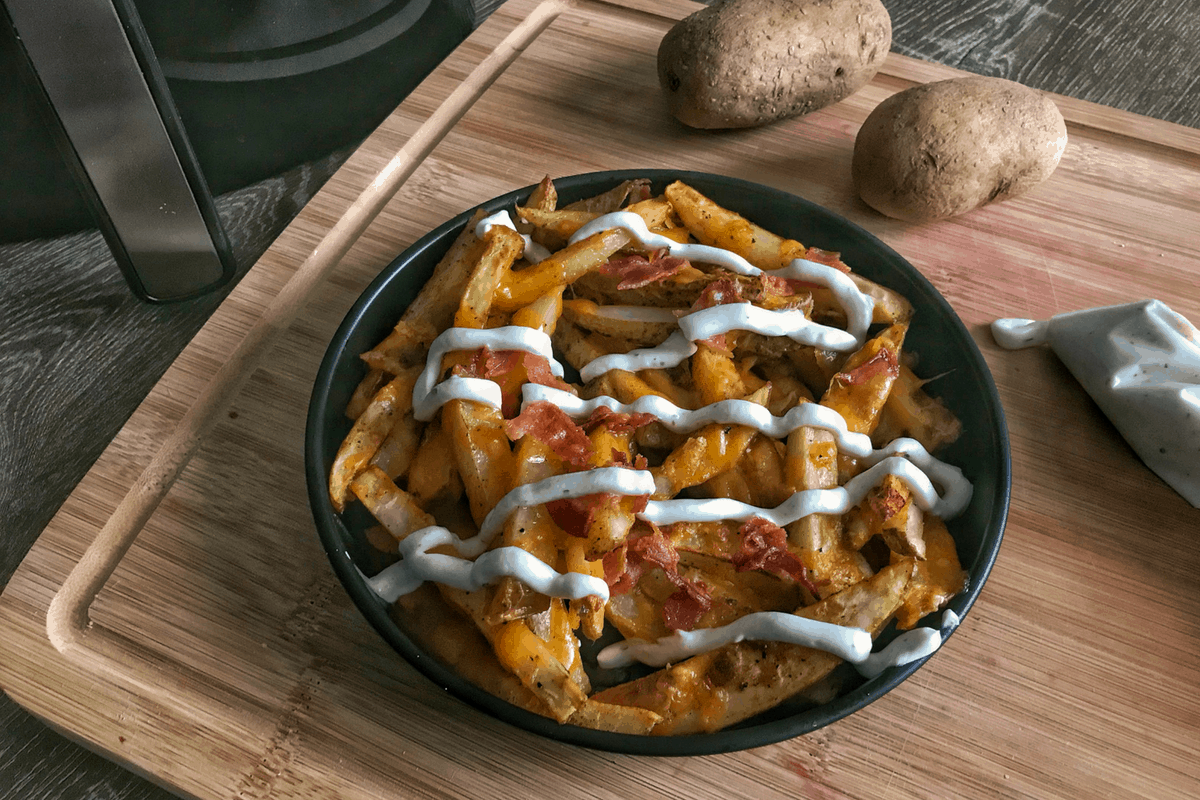 Bacon Ranch Air Fryer French Fries