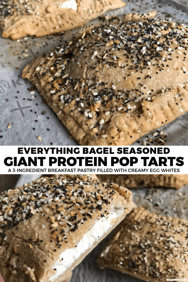 If you love everything bagels but wish they were a bit higher in protein or macro friendly, you'll love these 3-ingredient protein pop tarts filled with egg whites and cream cheese.