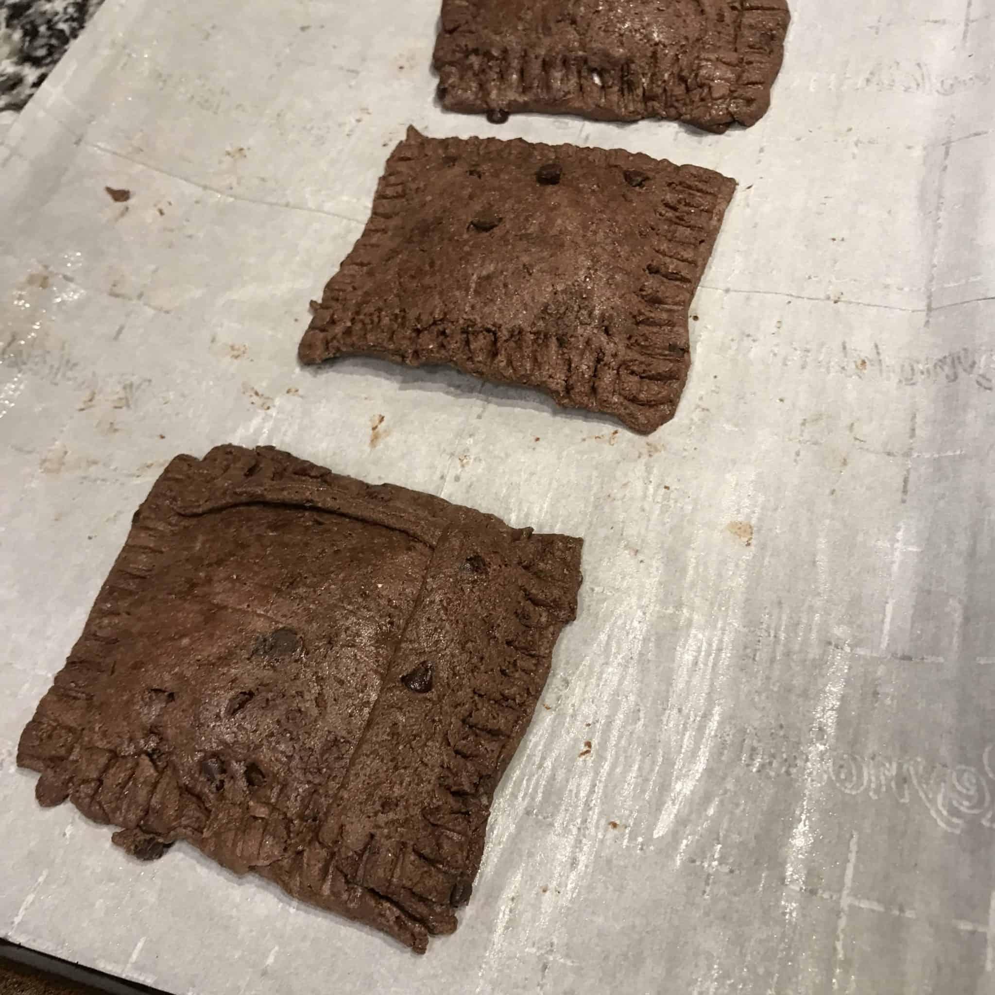healthy pop tarts before baking
