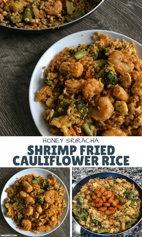 You'll love this simple shrimp fried cauliflower rice recipe that transforms frozen ingredients into a perfectly sweet and spicy high protein dish.