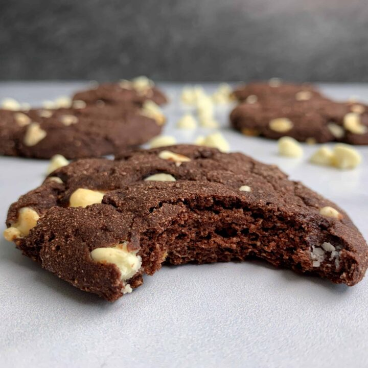 inside out chocolate chip protein cookies