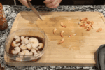 thaw and remove the tails from the shrimp