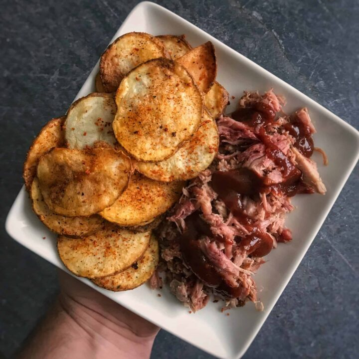 bbq air fried potato chips