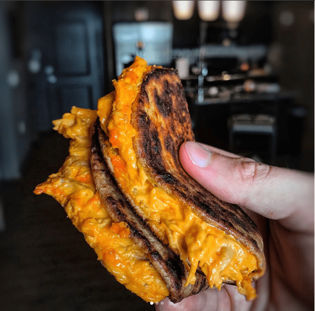 grilled cheese with rotisserie chicken