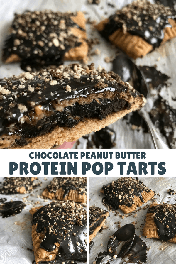 A simple, 6-ingredient Kodiak Cakes recipe for chocolate peanut butter protein pop tarts. You'll never believe each pop tart has 23 grams of protein.