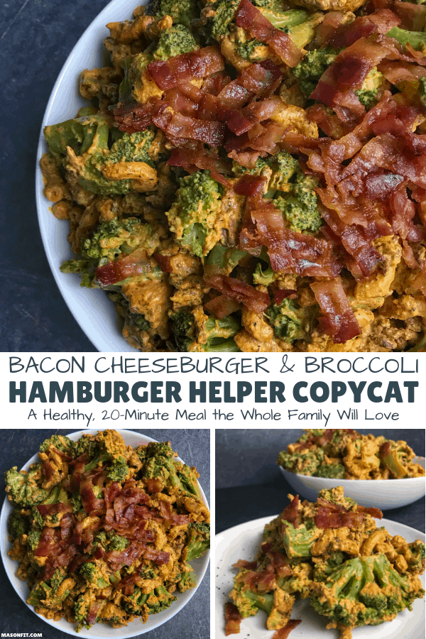 A 20-minute dinner the entire family will love. Each serving of this healthy Hamburger Helper copycat has 26 grams of protein and only 270 calories.