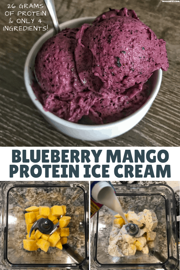 Save your time, money, and energy with this 4-ingredient protein ice cream recipe. It's creamy, delicious, and packed with 26 grams of protein per bowl!