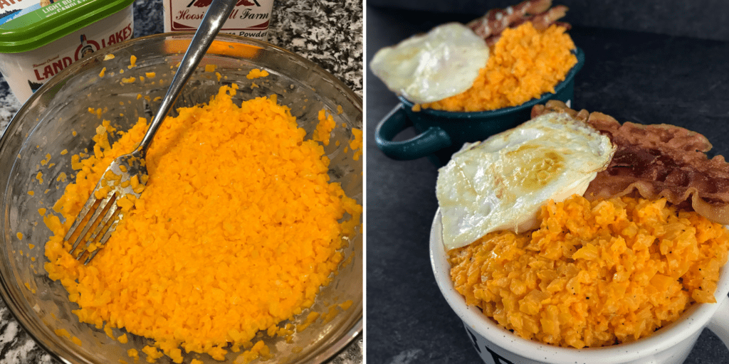 cheddar cauliflower grits recipe without food processor