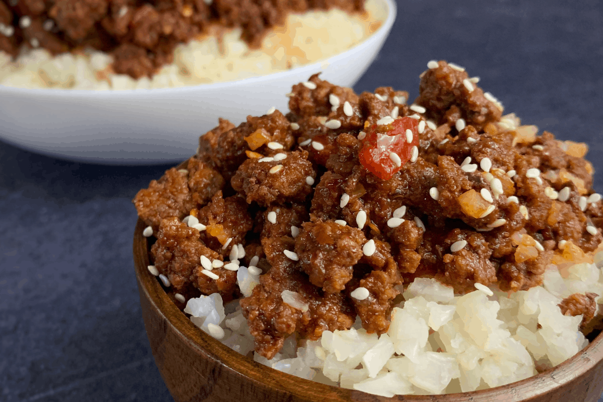 Korean Ground Beef A Lower Calorie Ground Beef With Rice Recipe