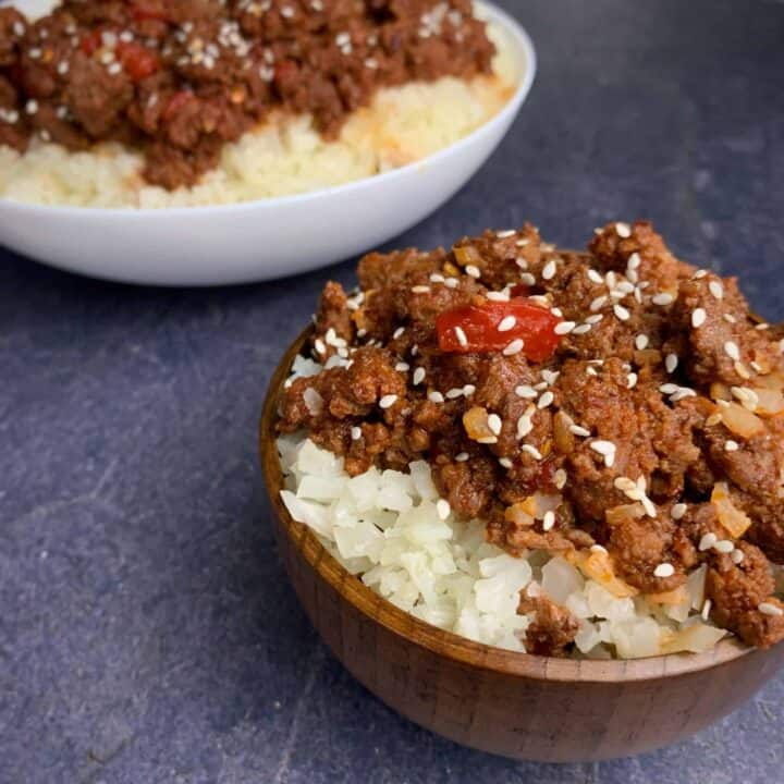 healthy korean ground beef and rice
