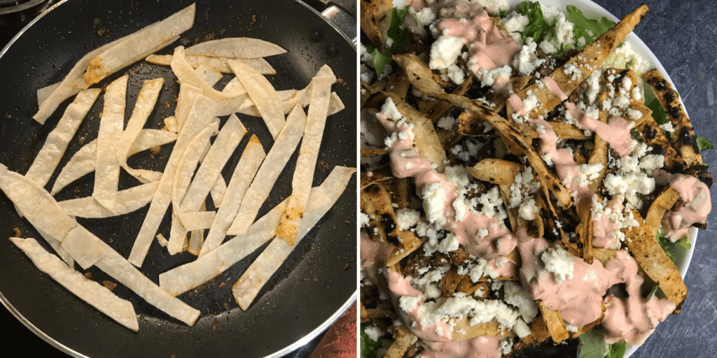 healthy taco salad tortilla strips for salad recipe