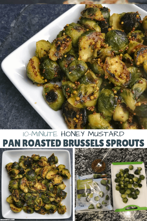 3-ingredient, 10-minute honey mustard pan roasted brussels sprouts and a look at some of the best flavors that go well with brussels sprouts.