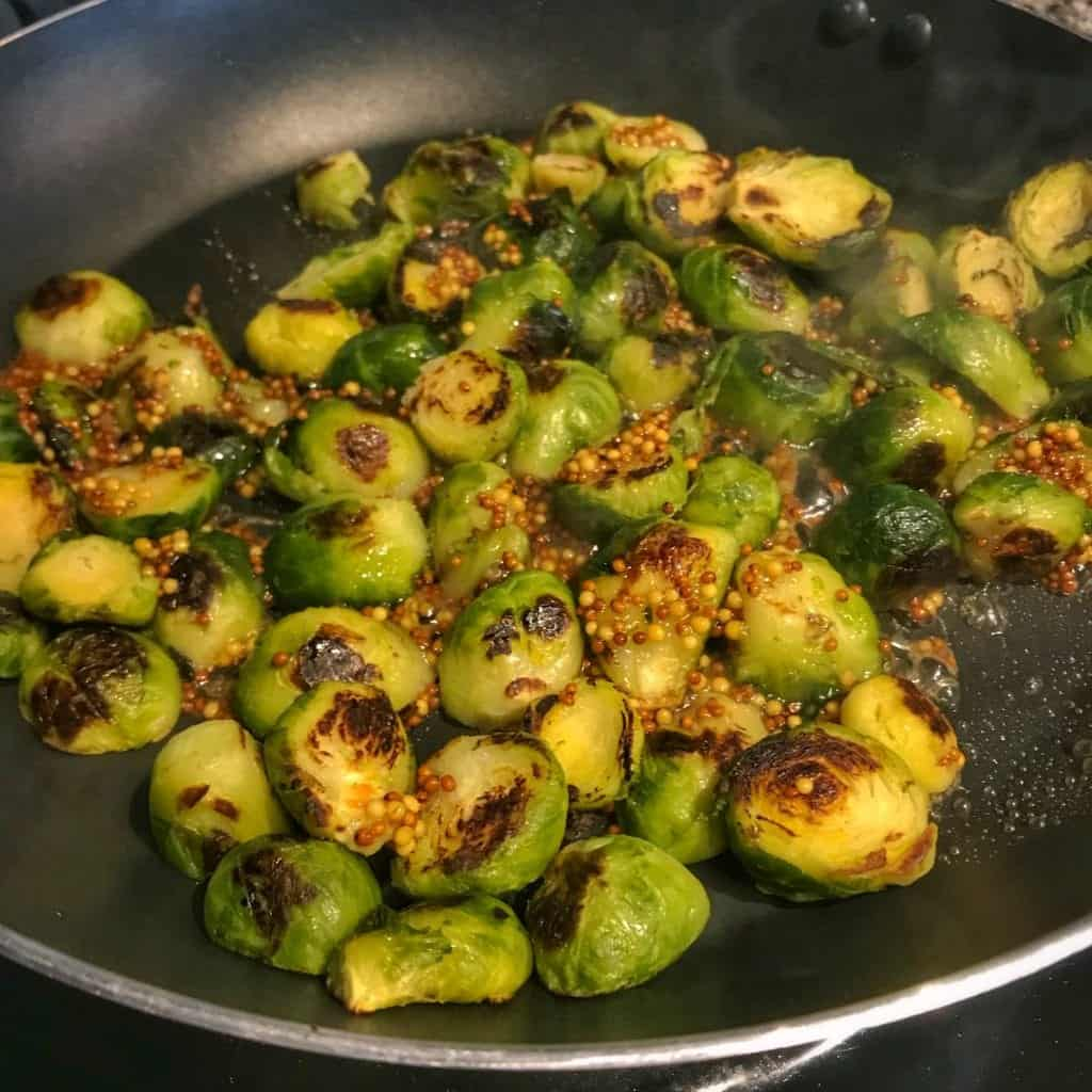 how to pan roast frozen brussels sprouts