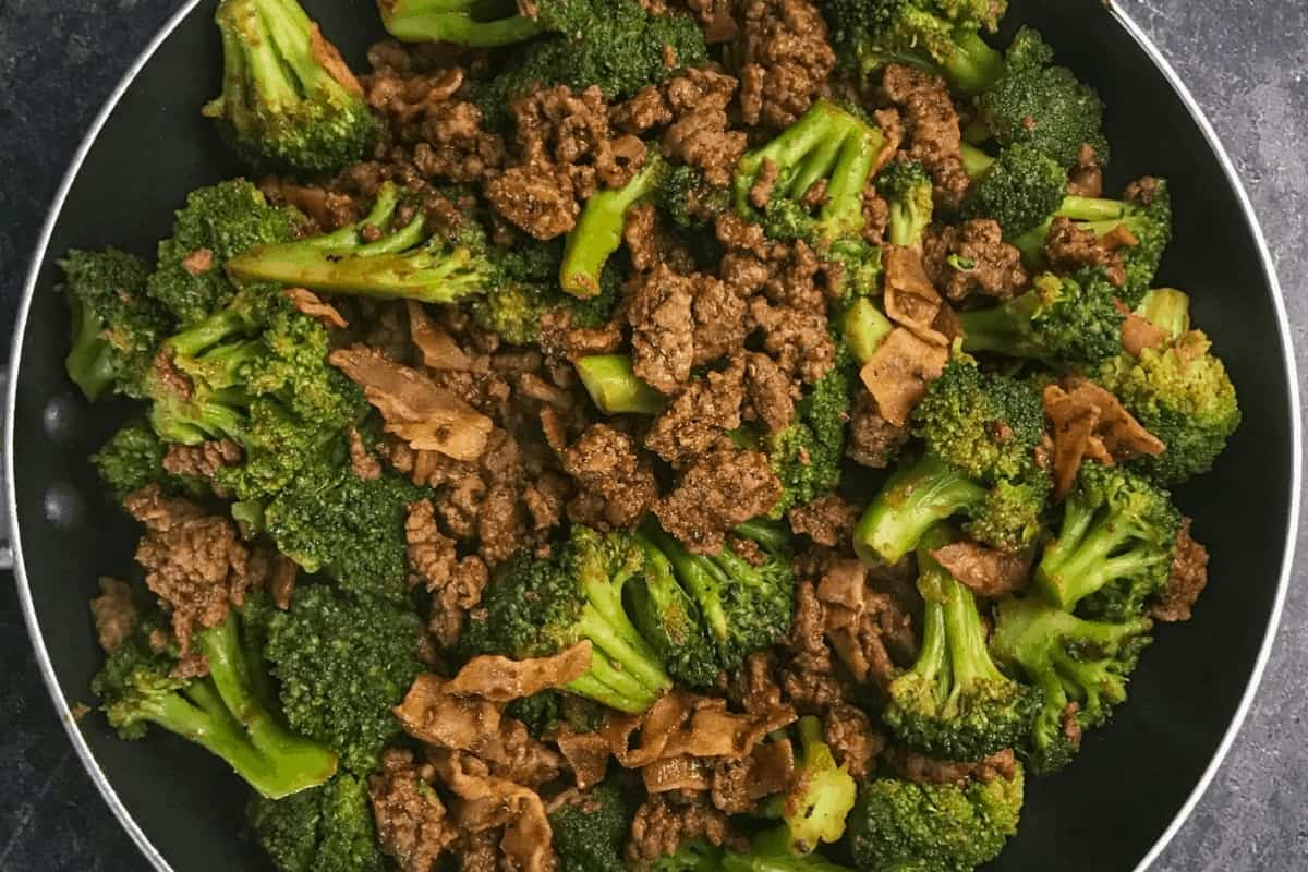 Sticky Sweet Ground Beef and Broccoli