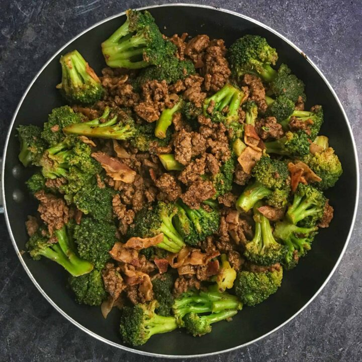 sticky sweet ground beef and broccoli recipe
