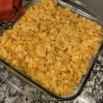 corn flakes topping for hash brown casserole