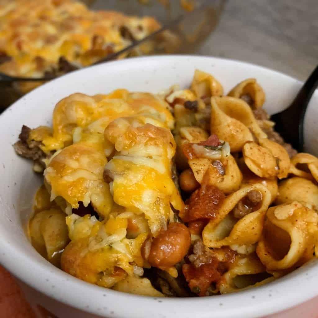 easy taco pasta bake