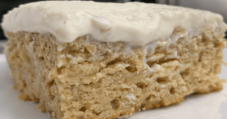 healthy banana bread cake with cream cheese frosting