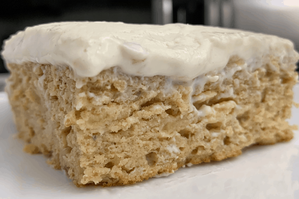 Healthy Banana Bread Cake with Sugar Free Cream Cheese Frosting