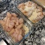 healthy garlic parmesan chicken pasta process shot 2
