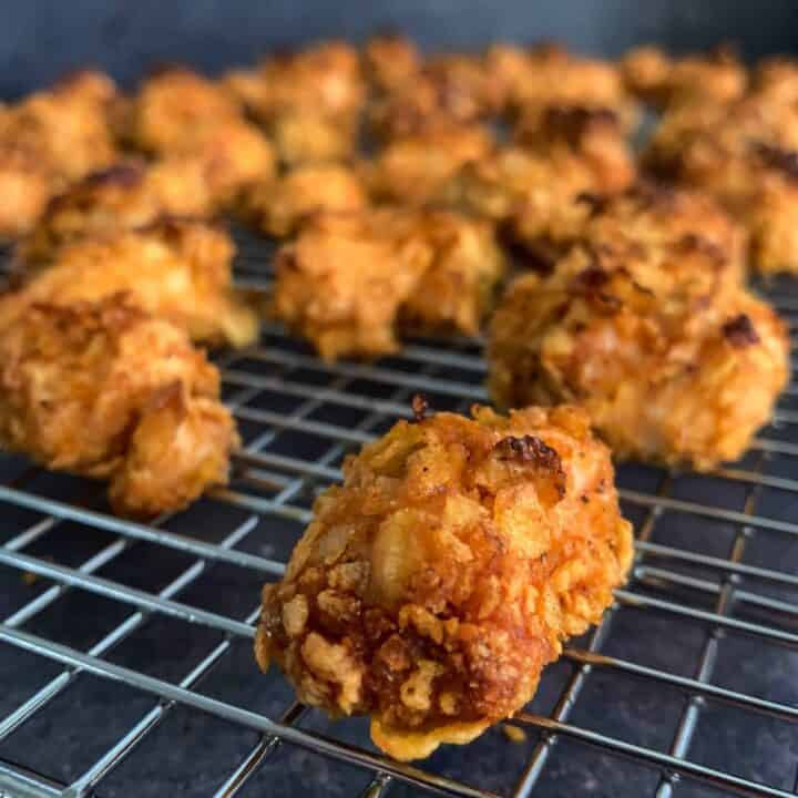 healthy spicy popcorn chicken recipe air fryer