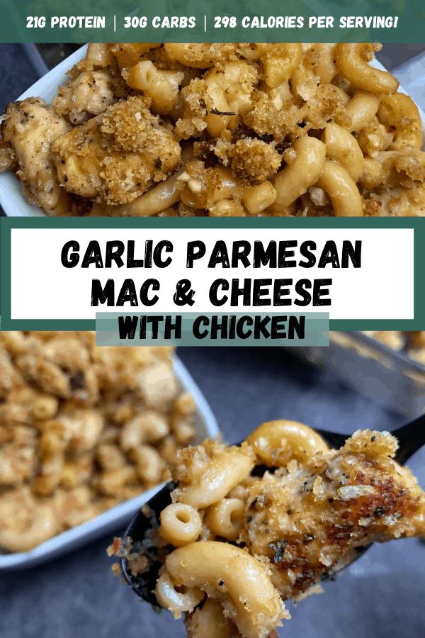 Garlic Parmesan Mac And Cheese With Chicken Kinda Healthy Recipes By Mason Woodruff