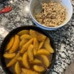 easy peach crisp ingredients