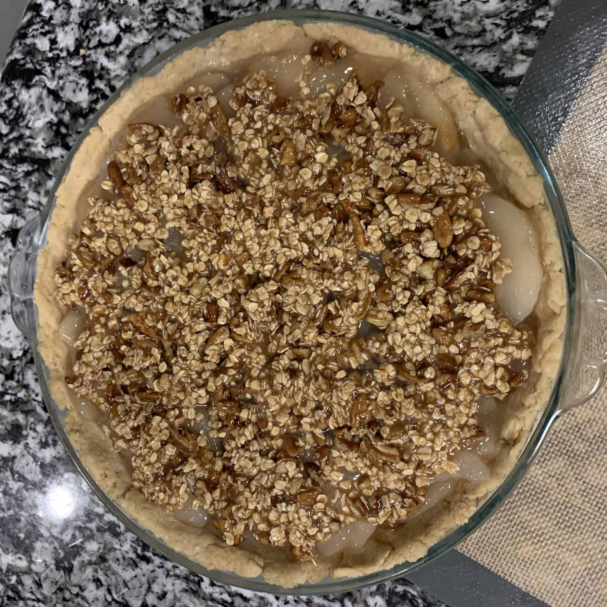 healthy kodiak cakes apple crisp pie step 7