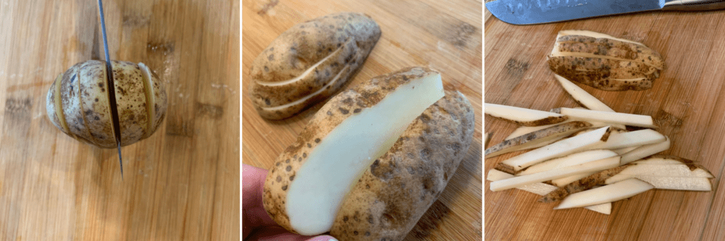 how to cut a potato for french fries