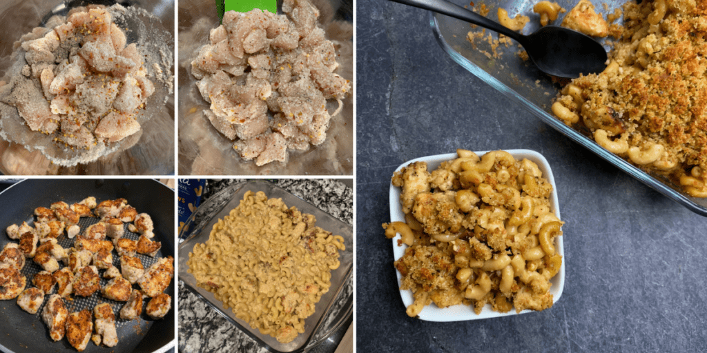 how to make garlic parmesan mac and cheese with chicken