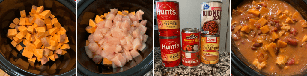how to make slow cooker sweet potato chipotle chicken chili