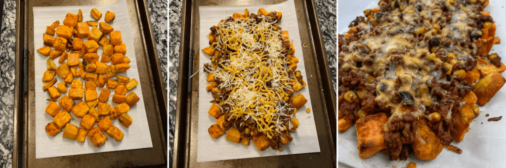 how to make sweet potato nachos
