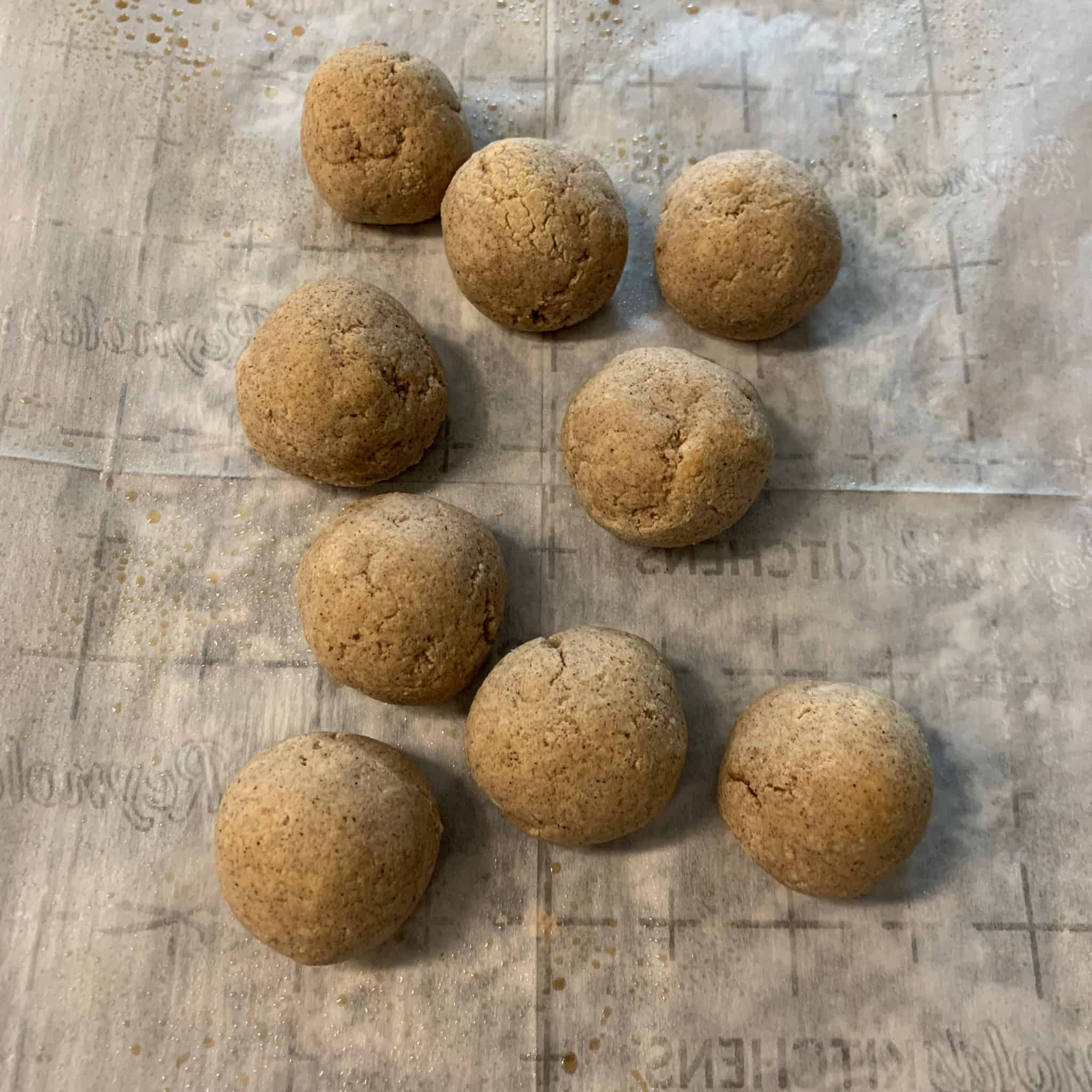 baked gingerbread protein balls