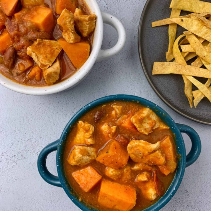 slow cooker sweet potato chipotle chicken chili