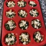 potato mushroom spinach and feta egg white cups step 4