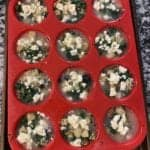 potato mushroom spinach and feta egg white cups step 5