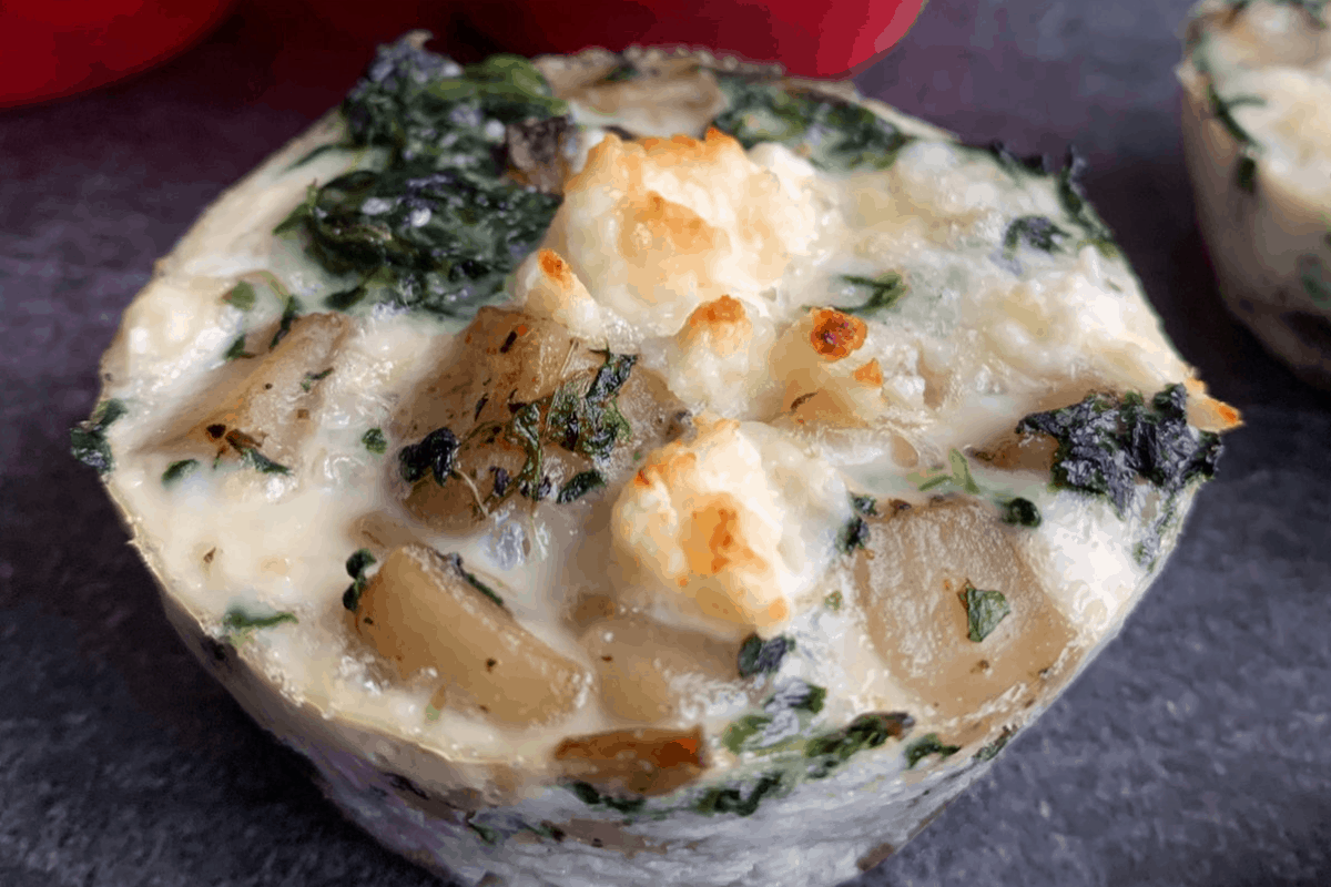 Spinach and Feta Egg White Cups